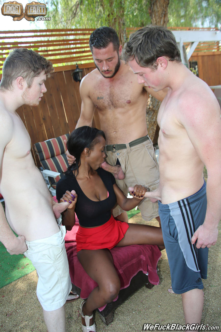 White Guy Sucks Black Tranny