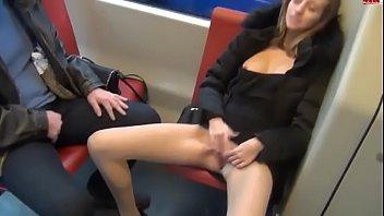 A Couple Is Having Public Sex In A Public Bus In Front