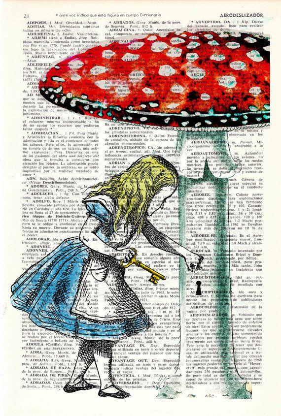 Alice In Wonderland Alice In Prrintland Going Home Alice Prrint