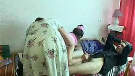 Amateur Russian Family Orgy 1