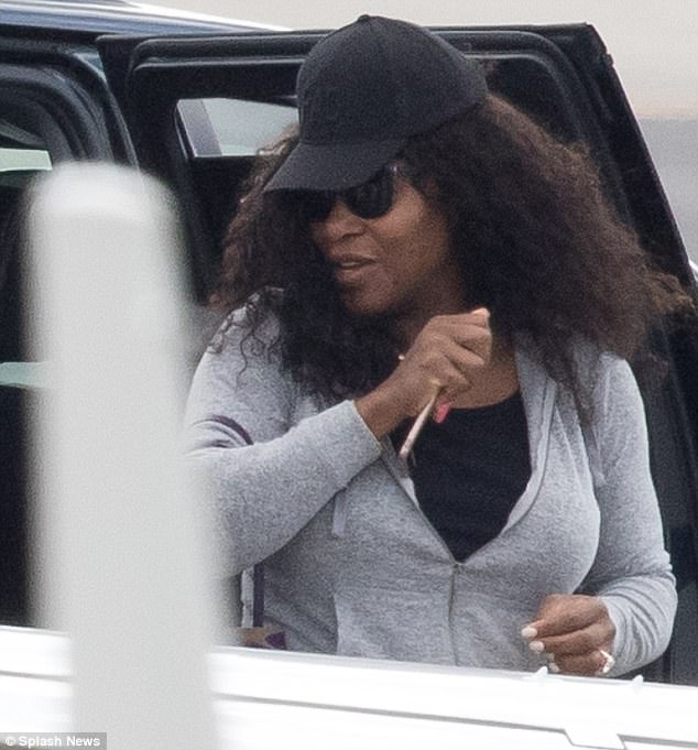 And Away We Go Newlyweds Serena Williams And Alex Ohanian Were Seen Jetting Off