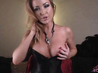 Angela Sommers Jerk Off Encouragement While Stripping