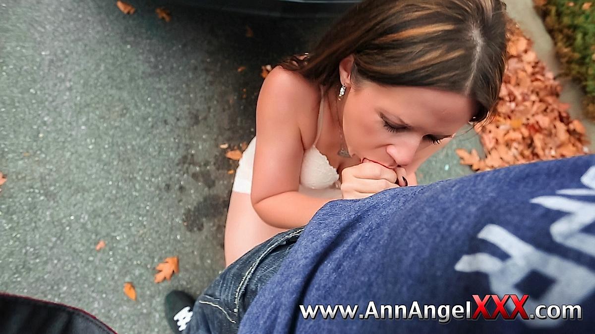 Ann Angel Hardcore Porn Inside Brunette Ann Angel Wearing White Lingerie In Car Giving Blowjob