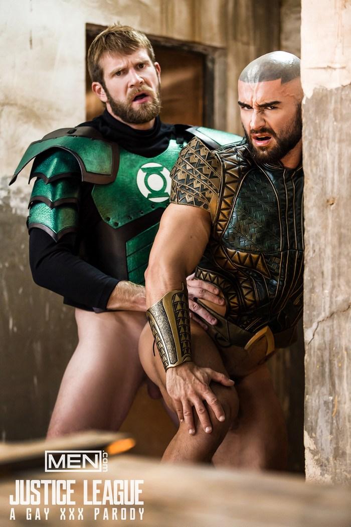 Aquaman Francois Sagat Bottoms For Green Lantern Colby Keller In Justice League Gay Parody