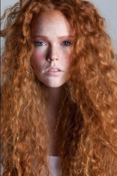 Beautiful Long Curly Redhead Red Hairstyles For Women