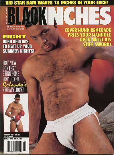 Black Inches Magazine Page Vintage Gay Adult 1
