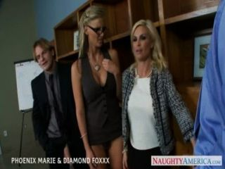 Blondes Phoenix Marie And Diamond Foxxx Fuck In Foursome Tmb