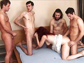 Brutal Russian Hardcore Gangbang First Porn Tube Video