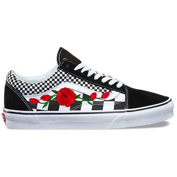Custom Embroidered Vans Custom Sneakers Floral Sneakers Womens