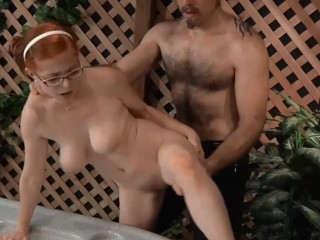 Cute Redhead Penny Jacuzzi Fuck 1