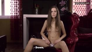 Defloration Casting Cute Anastasia Shows Virgin Pussy 2