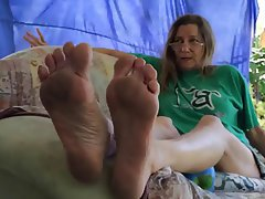 Dirty Mature Sole Show Femdom Foot Fetish Mature Pov