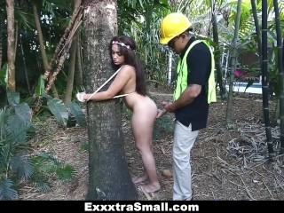 Exxxtrasmall Tree Hugging Teen Fucks Lumberjack