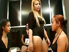 Face Slapping And Face Kicking Championship Femdom Foot Fetish Lesbian