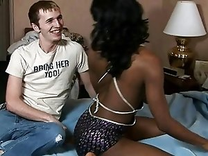 Fantastic Big Tits Black Shemale And White Dude