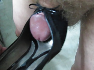 Fucking Wifes Sexy Black Patent Leather High Heel Pumps