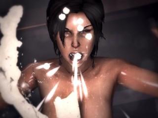 Game Over Girls Lara Croft Tomb Raider Cum Vomit Scene Loop