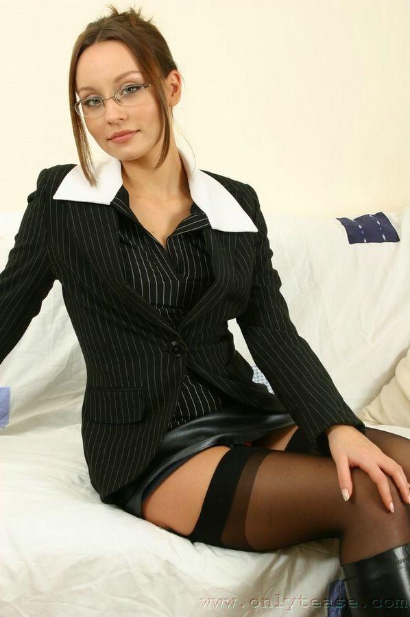Glasses And Boots Porn Secretary Sex Beautiful Secretary In Black Stockings And Boots Porn Pic