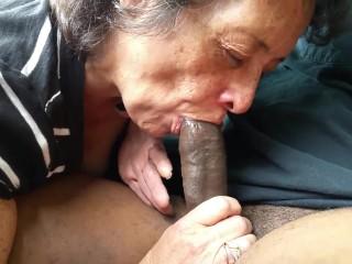 Granny Sucking Black Cock On Car 5