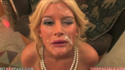 Great Big Huge Cumshots Over Prety Sweet Faces 1