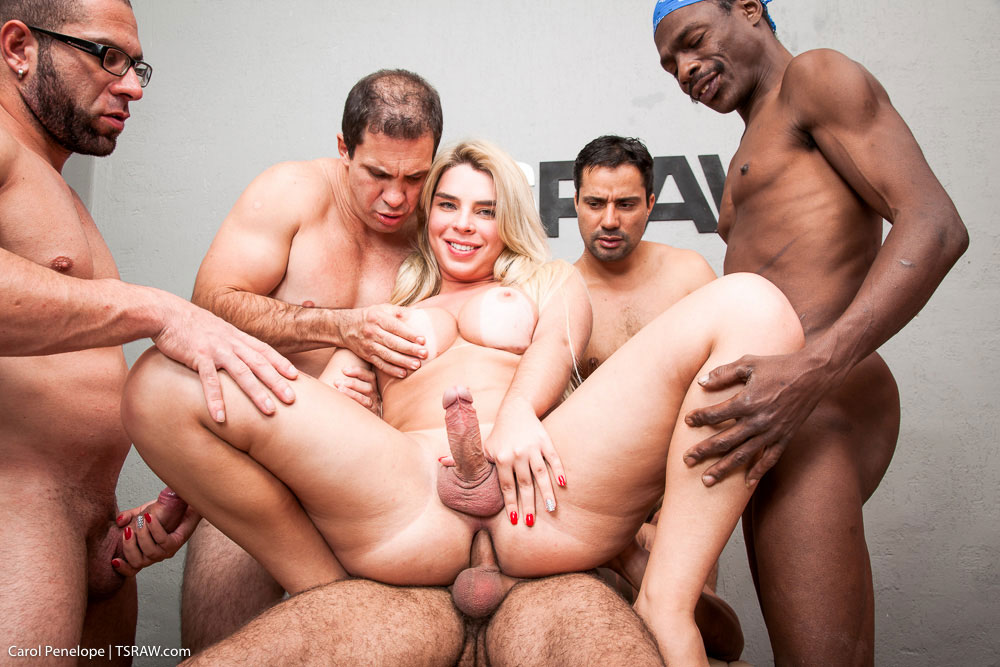 Great Gangbang With Shemale Carol Penelope On Raw 1