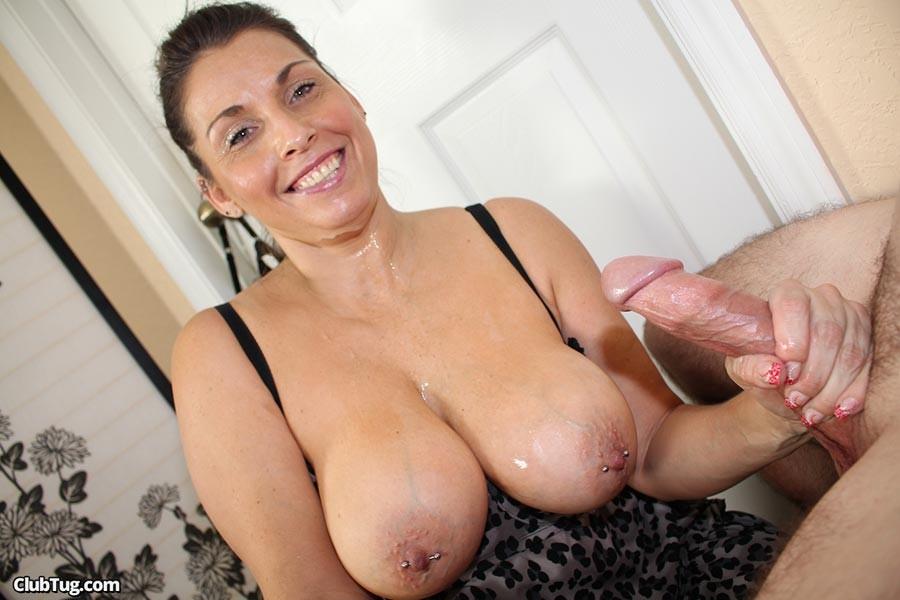 Handjob Big Tit Milf Stacie Starr Sucking On A Big Younger Prick