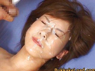 Hime Kamiya Asian Teen In Hard Bukkake Porn Tube Video