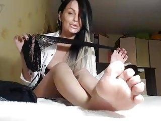 Hot Blonde Slut In White Stockings Anal Sex Stockings Fetish Xxx