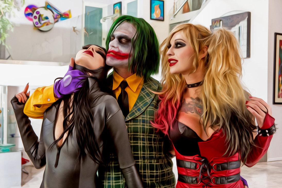 Joker Harley Quinn And Catwoman Deaded