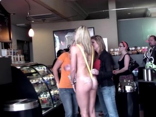 Lb Strip Candy Passing Public Humiliation Nudity 4