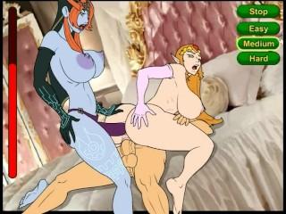 Link Threesome Zelda Midna More Bitches Nintendo 2