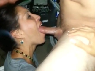 Married Milf Sucking The Cum Out Of A Cock In Front Of Husband Friends 4
