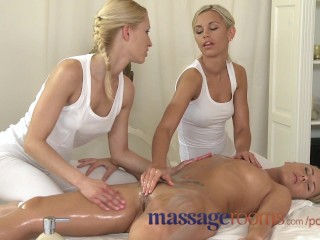 Massage Rooms Raunchy Lesbian Threesome After Sensual Oil Massage 2