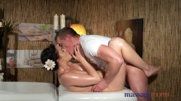 Massage Rooms Young Natural Tits Brunette Has Leg Shaking Orgasm 2