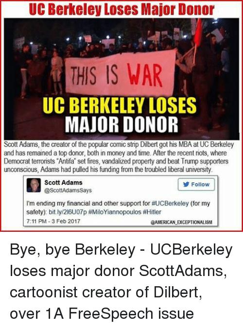 Memes And Uc Berkeley Uc Berkeley Loses Major Donor This