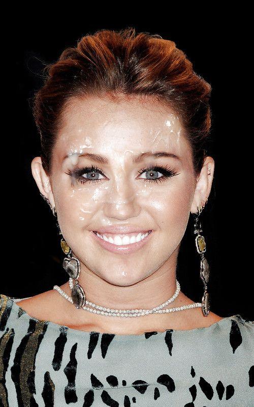 Miley Cyrus Facials Xxx