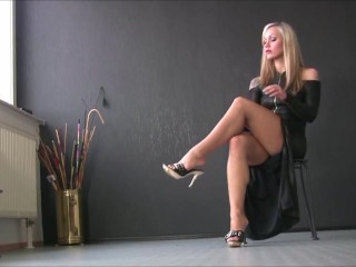 Milf Blonde High Heels Foot Fetish 2