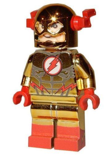 New Lego Custom Printed Chrome Reverse Flash Super Hero Minifigure