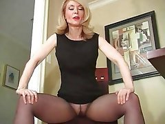 Nina Hartley Pantyhose Tease Foot Fetish Mature Stockings 1