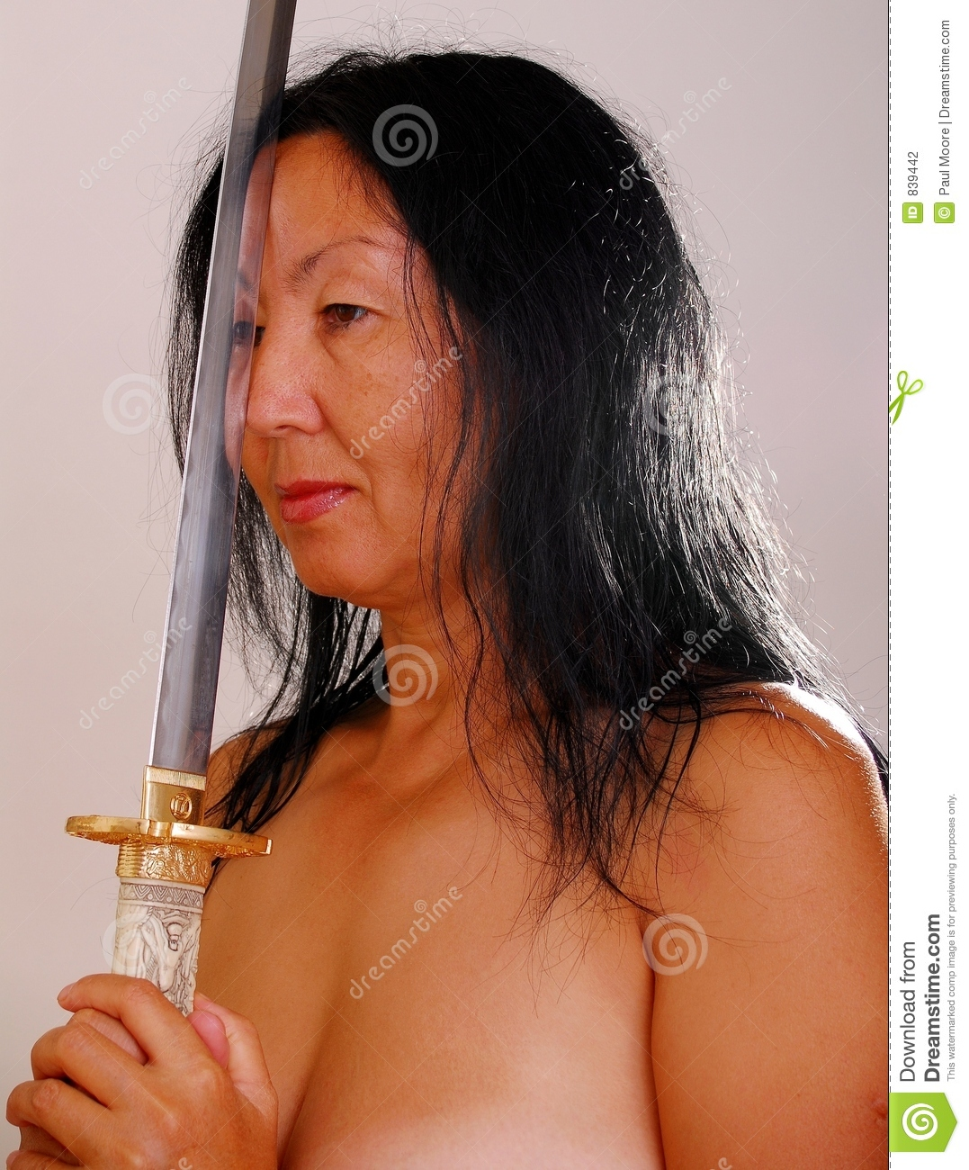 Nude Asian Woman With Sword Stock Photo Image Of Naked Asian