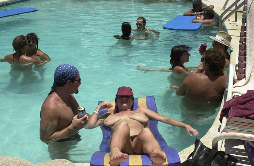 Nudist Group Pool Photos From A Private Family Naturist Resort 3