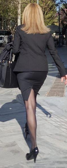 Office Girls Pantyhose Candid Legs