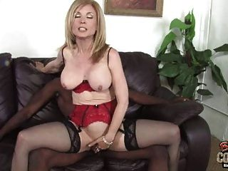 Old White Cunt Nina Hartley Owned Fat Black Cock Tmb