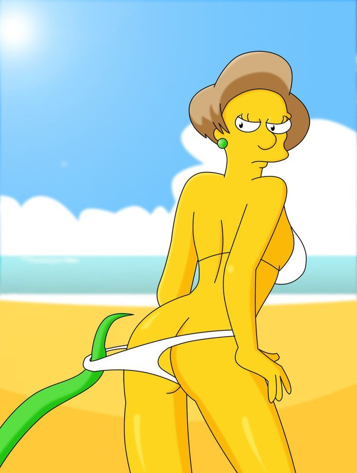Page Of The Porn Sex Comic The Simpsons Edna Krabappel For Free Online