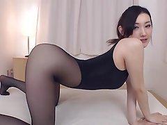 Pantyhose Fetish Shes Happy To Indulge Asian Big Boobs Japanese Stockings 1
