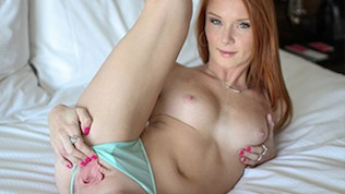 Passion Pink Nippled Ginger Alex Tanner Toys Wet Pussy 2