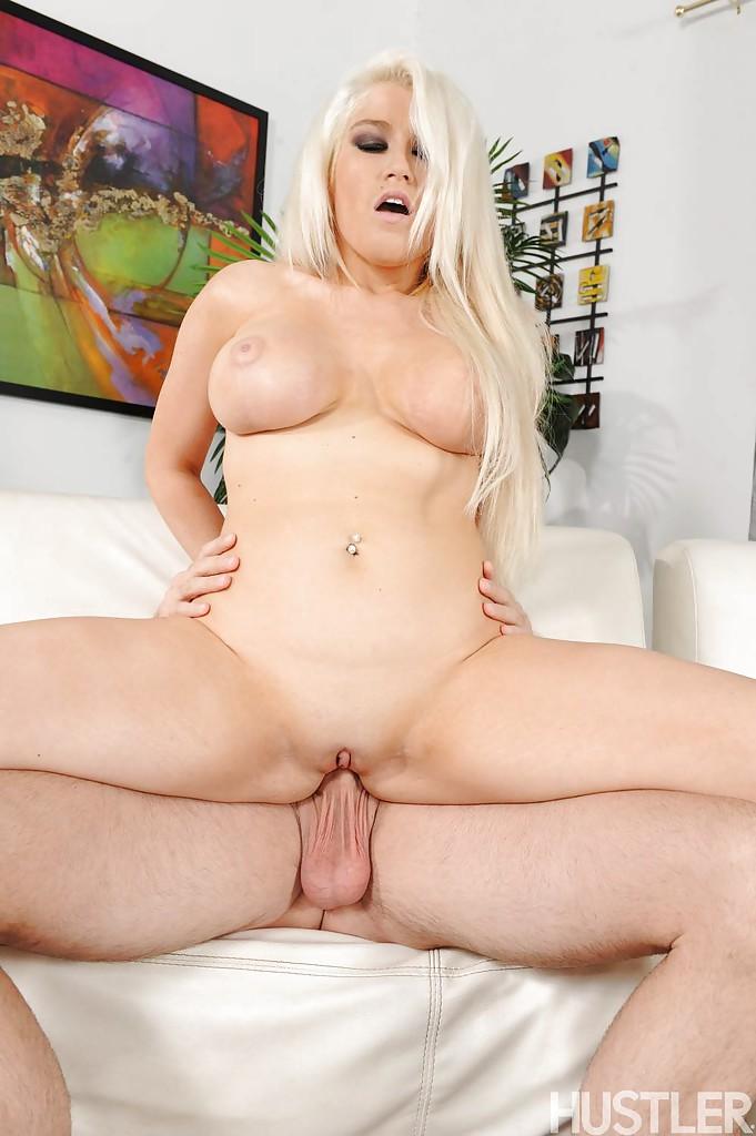 Platinum Blonde Big Tits Milf Platinum Blonde Milf Pornstar Nikki Phoenix Tit Fucks Cock
