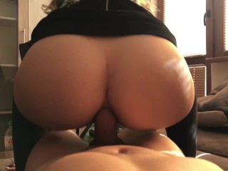 Reverse Cowgirl Anal Pounded Pov