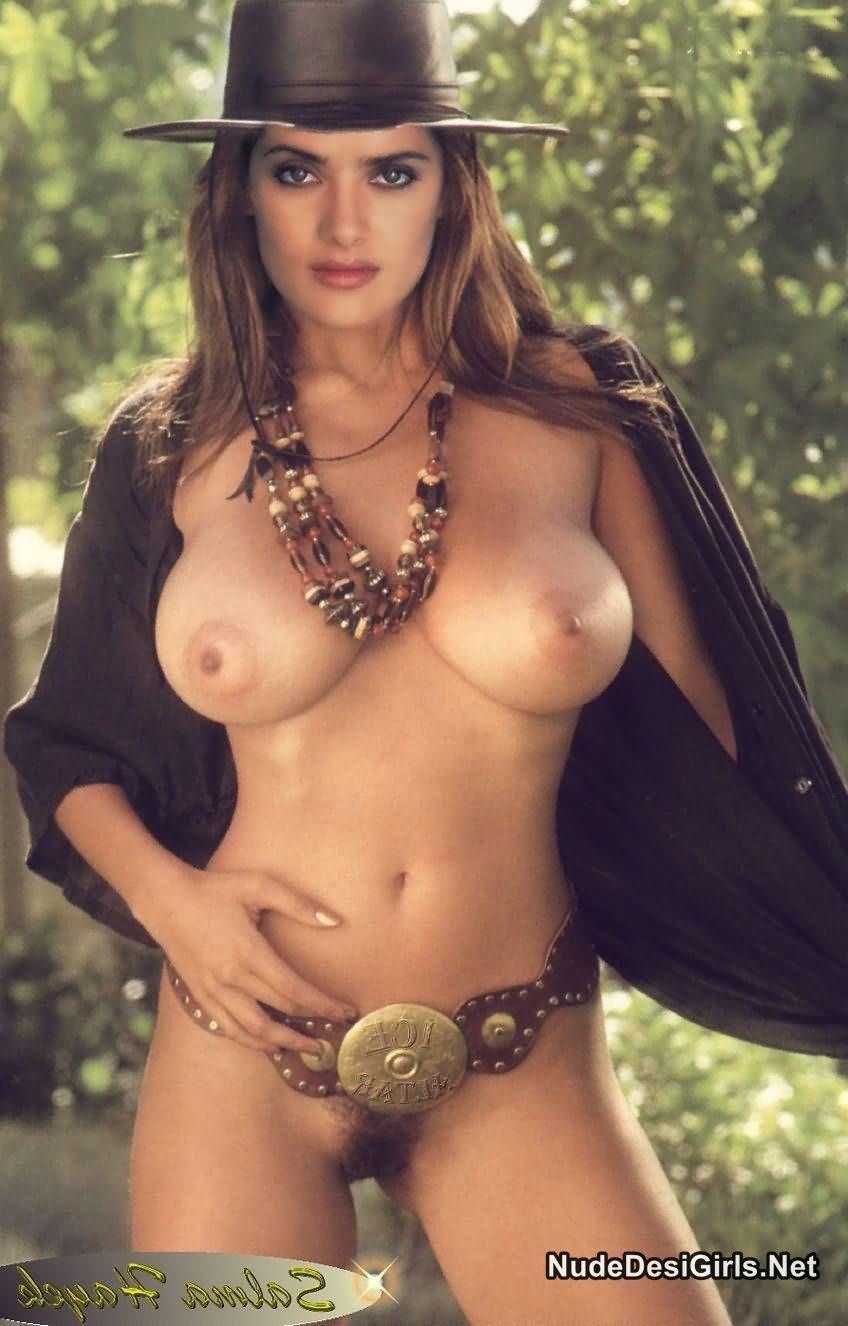Salma Hayek Huge Boobs Nipples