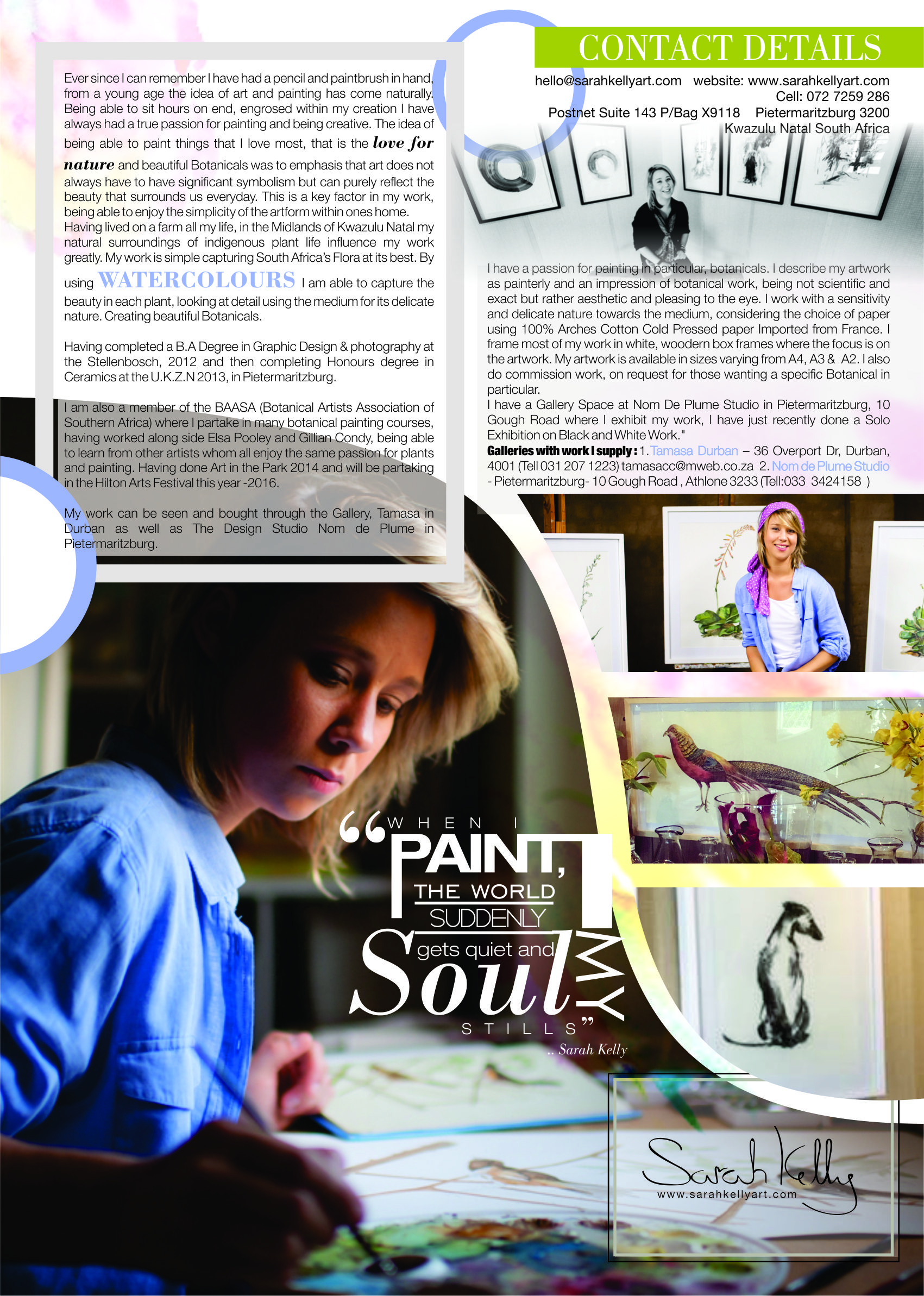 Sarah Park Sarah Kelly Advert Design Edit